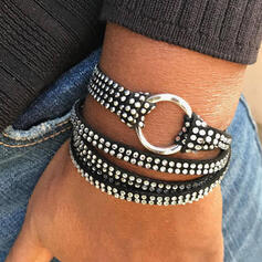 Chic Layered Rhinestones PU Women's Bracelets