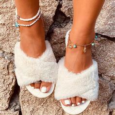 Frauen Kunstleder Flascher Absatz Sandalen Flache Schuhe Pantoffel mit Andere Schuhe