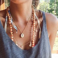 Stilvoll Legierung mit Schale Halsketten Strandschmuck
