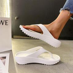 Women's EVA Flat Heel Sandals Flip-Flops Slippers With Solid Color shoes