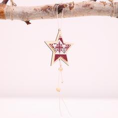 Weihnachten Fröhliche Weihnachten Hängend Star Hölzern Baum hängen Ornamente Weihnachtsschmuck