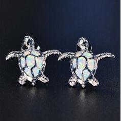 Tortoise Alloy With Rhinestone Women's Earrings