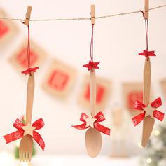 Weihnachten Fröhliche Weihnachten Hängend Hölzern Baum hängen Ornamente Weihnachtsschmuck