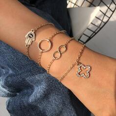 Anhänger Geschichtet Legierung Strasssteine Armbänder 4 STÜCK