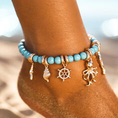 Cool Boho Alloy Beads Women's Beach Jewelry Anklets