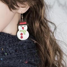 Schöne Einfache Stoff Legierung Frauen Ohrringe 2 STÜCK