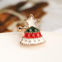 Weihnachtsbaum Geformt Weihnachten Legierung mit Star Ohrringe