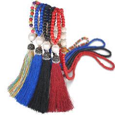 heißeste Fantasie Perlen mit Quasten Halsketten Strandschmuck