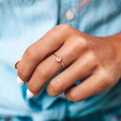 Einfache Legierung Kristall Ringe