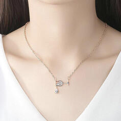 Charming Pretty Artistic Romantic Alloy With Zircon Ladies' Necklaces