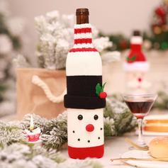 Weihnachten Fröhliche Weihnachten Schneemann Santa Stricken Weinflasche Cover