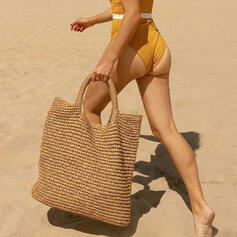 Solid Color/Bohemian Style/Braided Tote Bags/Beach Bags
