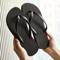 Women's PVC Flat Heel Sandals Flip-Flops Slippers With Solid Color shoes