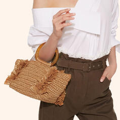 Refined/Bohemian Style/Braided Tote Bags/Beach Bags