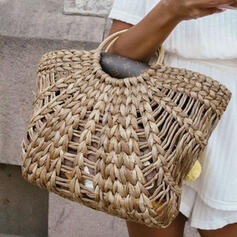 Elegant/Solid Color/Braided Tote Bags/Beach Bags