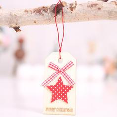 Weihnachten Fröhliche Weihnachten Rentier Hängend Weihnachtsbaum Star Hölzern Baum hängen Ornamente Weihnachtsschmuck