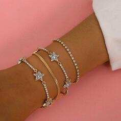 With Rhinestone Star Women's Ladies' Bracelets 4 PCS