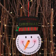 Weihnachten Fröhliche Weihnachten Schneemann Hängend Vlies Adventskalender Weihnachten