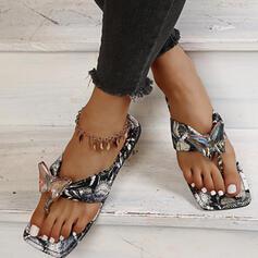 Women's PU Flat Heel Sandals Flats Peep Toe Flip-Flops Slippers With Hollow-out Crisscross shoes
