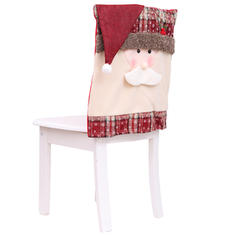 Christmas Merry Christmas Snowman Santa Non-Woven Fabric Chair Cover