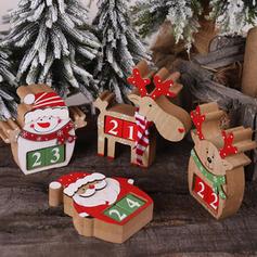 Weihnachten Fröhliche Weihnachten Schneemann Rentier Santa Tischplatte Hölzern Diy Craft Adventskalender Weihnachten
