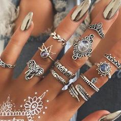 heißeste Fantasie Legierung Schmuck Sets Ringe (Satz 12 Paare)