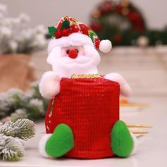 Weihnachten Fröhliche Weihnachten Schneemann Santa Geschenktasche Vlies Apple Taschen Candy Bags