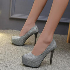 Women's PU Stiletto Heel Pumps With Sequin Solid Color shoes