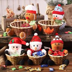 Weihnachten Fröhliche Weihnachten Schneemann Rentier Santa Wicker Vlies Apple Taschen Weihnachtsschmuck