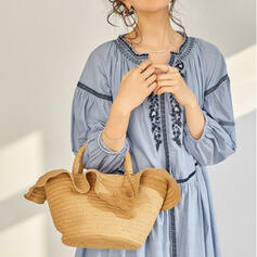 Refined/Personalized Style/Braided Tote Bags/Beach Bags
