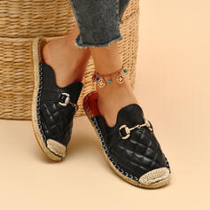 Women's PU Flat Heel Flats Round Toe Loafers Loafers & Slip-Ons With Patchwork Solid Color shoes