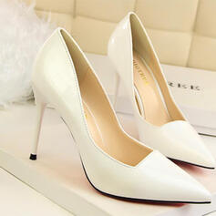 Women's PU Stiletto Heel Pumps With Solid Color shoes