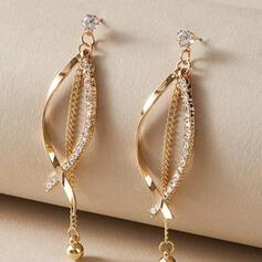 Pretty Alloy Rhinestones With Rhinestone Women's Earrings 2 PCS