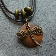 Vintage Classic Alloy Wood Women's Men's Necklaces