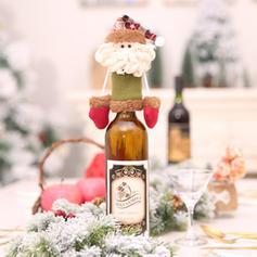 Weihnachten Fröhliche Weihnachten Schneemann Rentier Santa Vlies Weinflasche Cover