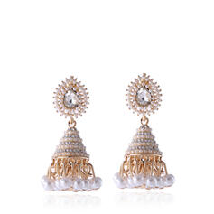 Round Alloy With Imitation Pearls Women's Earrings