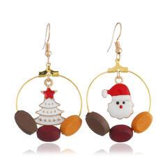 Weihnachten Weihnachten Schneemann Legierung Ohrringe 2 STÜCK