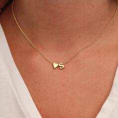 Letter Simple Heart Initial Alloy Women's Necklaces