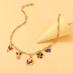 Weihnachten Weihnachten Sankt Legierung Halsketten