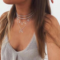 Anhänger heißeste Sterne Legierung mit Star Mond Schmuck Sets Halsketten 4 STÜCK