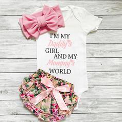 3-pieces Baby Girl Floral Cotton Set