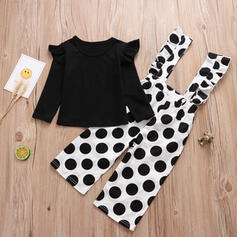 2-pieces Toddler Girl Polka Dot Cotton Set