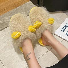 Women's Velvet Platform Slippers shoes