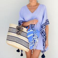 Vintga/Stripe/Braided Tote Bags/Beach Bags