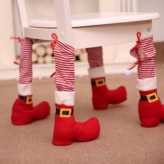 Weihnachten Fröhliche Weihnachten Vlies Stuhlbezug Stuhlfußabdeckung