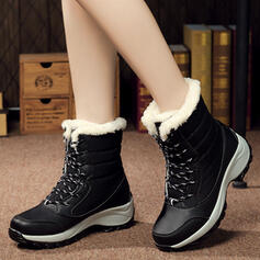 Women's Canvas Wedge Heel Wedges Boots Winter Boots With Lace-up shoes