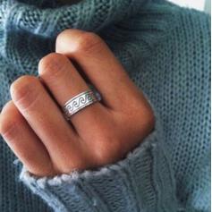 Einzigartig Einfache Legierung Frauen Ringe