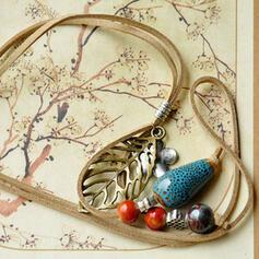 Unique Romantic Ceramic Leather Women's Ladies' Unisex Girl's Necklaces