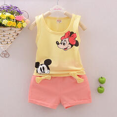 2-pieces Baby Girl Cartoon Print Cotton Set