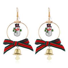 Weihnachtsglocke Weihnachten Weihnachten Schneemann Legierung Ohrringe 2 STÜCK